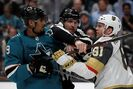 Pavelski's painful goal leads Sharks past Golden Knights 5-2