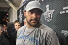 A defiant Byfuglien faces the media