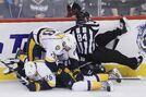 Predators pounce in second, Jets lose 3-1