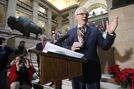 Selinger remains optimistic about election despite poll that puts NDP in third