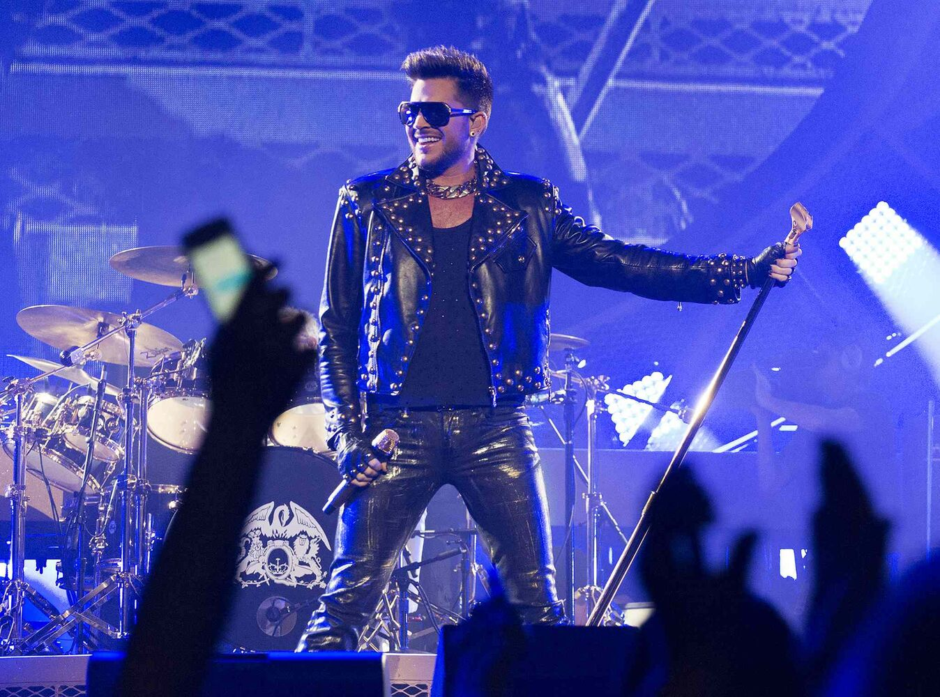 Adam Lambert and Queen kept the audience rapt during Saturday night's performance, coinciding with the first full day of summer. (Sarah Taylor / Winnipeg Free Press)