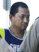 Vince Li, shown here appearing in a Portage La Prairie court in August 2008. Li was found Not Criminally Responsible for the 2008 murder and mutilation of Tim McLean aboard a Greyhound bus.