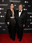 """FILE - In this July 28, 2014 file photo, recording artists Lady Gaga, left, and Tony Bennett, attend a Tony Bennett and Lady Gaga concert taping, in New York. Bennett and Lady Gaga's jazz collaborative album, """"Cheek to Cheek,"""" will be released on Sept. 23, 2014. It features songs from the Great American Songbook. (Photo by Andy Kropa/Invision/AP, file)"""
