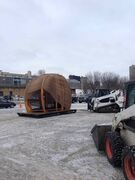 Packing up the Rope Pavilion (from the 2013 Warming Hut competition) to be sent off to Ottawa's Winter Design Festival.