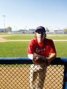 Liam Grier, a baseball player, received a $500 scholarship from Sport Manitoba.