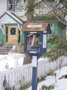 Little Free Libraries, such as this one on Dorchester Avenue, are popping up all over Winnipeg.