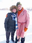 Deenie Lefko-Halas (left) and Lynda Geary are the organizers of the Norwood Party on the Red River Mutual River Trail, which will be held Feb. 1.