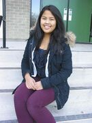 Hannah Payumo pictured at St. Boniface Diocesan High School.