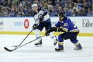 Jets beat up on Blues in season opener with 5-1 win