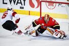 Hanifin scores, tacks on two assists to lead Flames over Devils 5-2