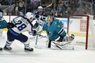 Jets jump Sharks 5-1 to kick off California road trip