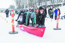 Canoe race on a frozen river? Why not?