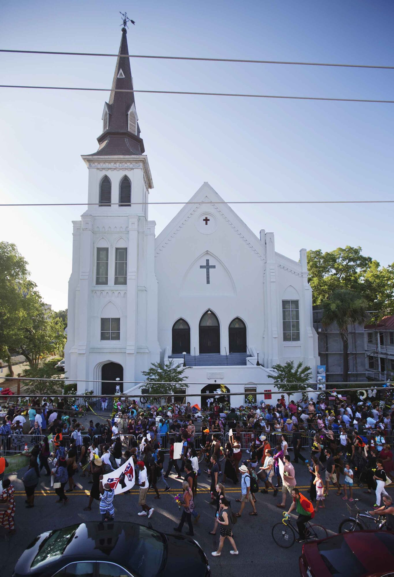 On June 20, 2015 people marched in memory of the Emanuel AME Church shooting victims in Charleston, S.C.