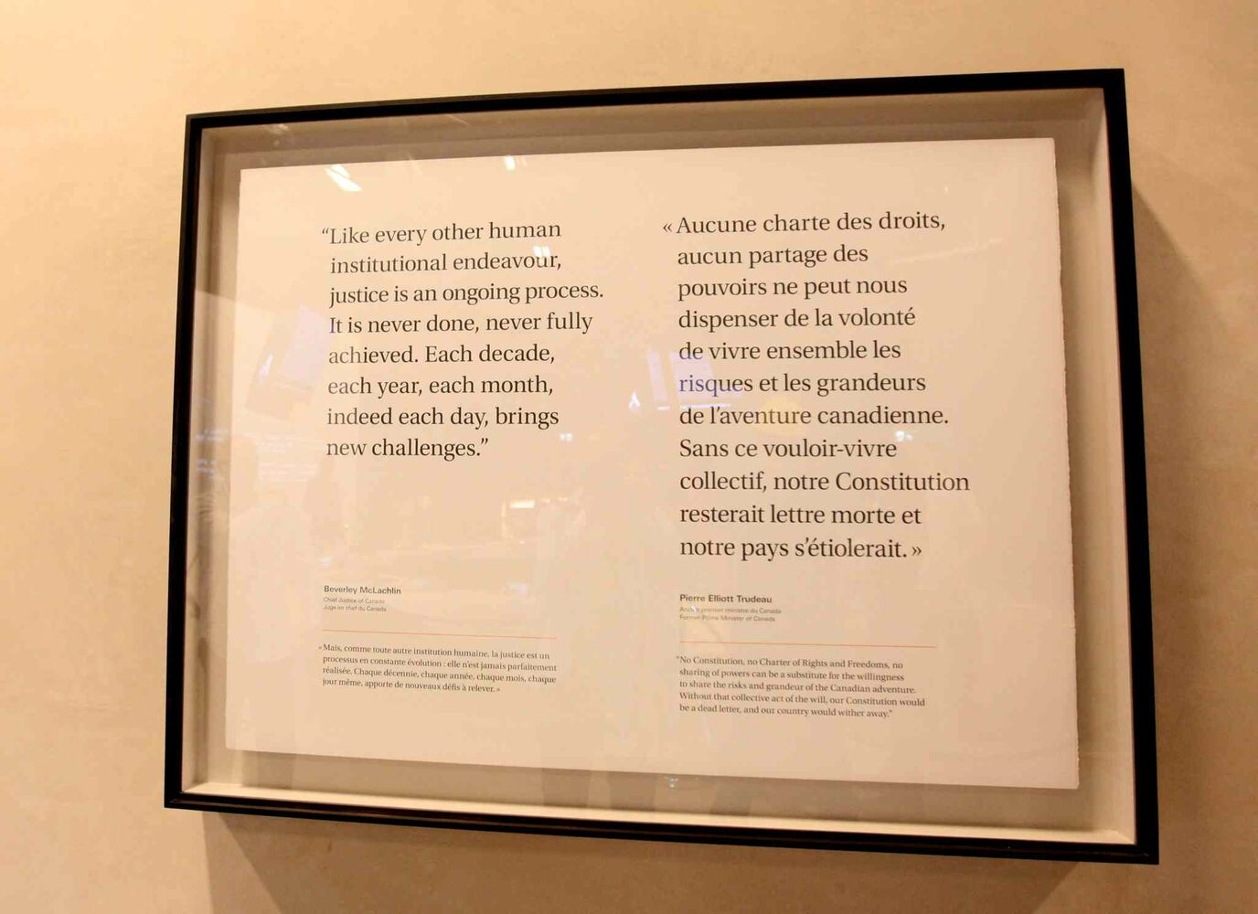 Gallery Installation #4 - Protecting Rights in Canada. (Ruth Bonneville / Winnipeg Free Press)