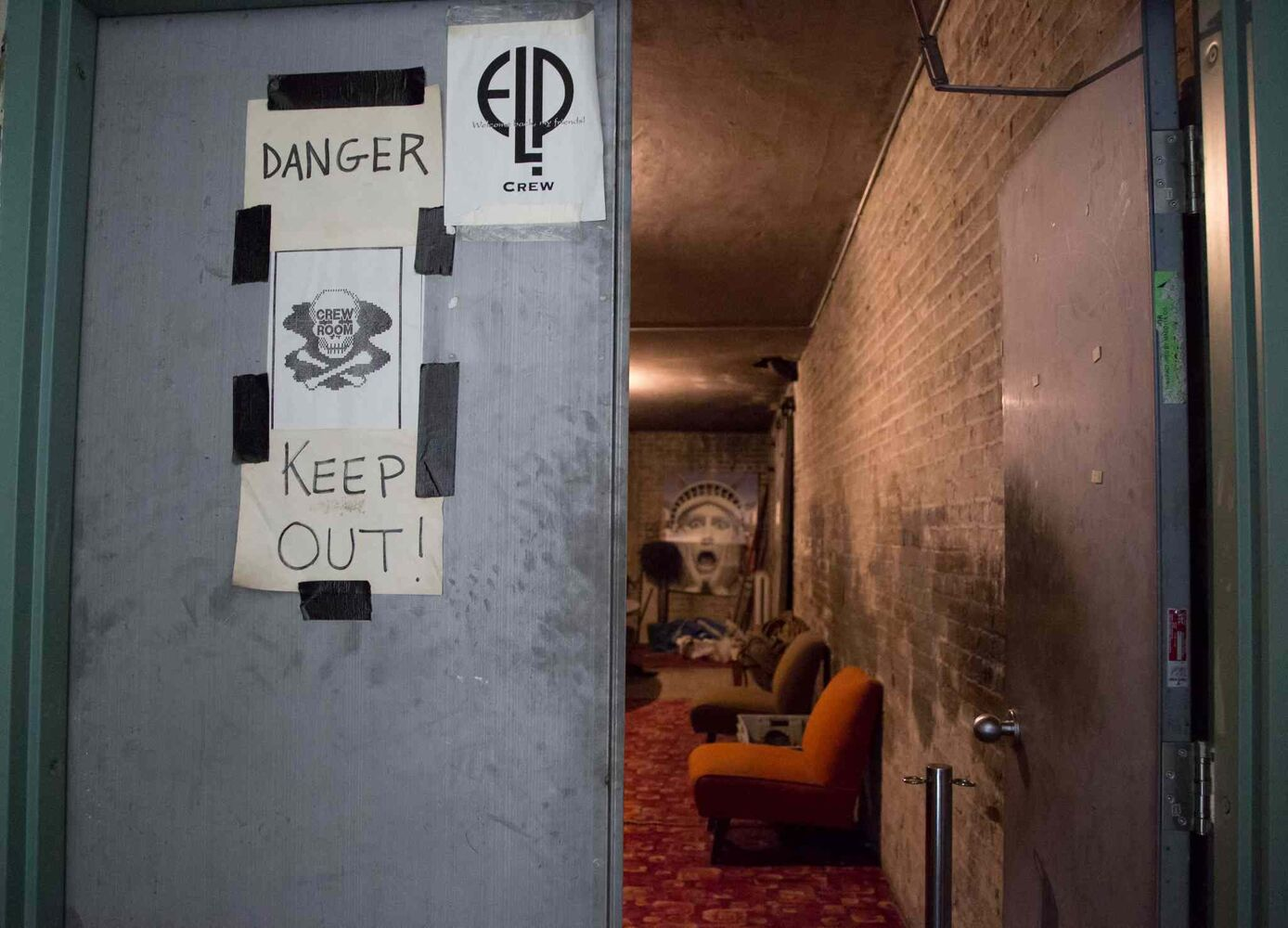 A staff room on the mostly unused top floor of the Burton Cummings Theatre. (Crystal Schick / Winnipeg Free Press)