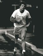 Terry Fox on the Marathon of Hope, July 1981.