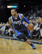 FILE - In this Tuesday, Dec. 9, 2014 file photo, Dallas Mavericks guard Jameer Nelson (14) plays in the first half of an NBA basketball game in Memphis, Tenn. The Celtics traded point guard Rajon Rondo to Dallas on Thursday night, Dec. 18, 2014. The Celtics will send Rondo and forward Dwight Powell to Dallas for Jae Crowder, Brandan Wright, Jameer Nelson and two draft picks, according to a person with knowledge of the deal. (AP Photo/Brandon Dill, File)