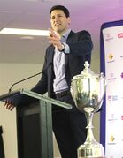 Former Wallabies captain John Eales speaks during a press conference about The Australian Rugby Union's