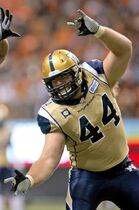 Winnipeg Blue Bombers' Zach Anderson