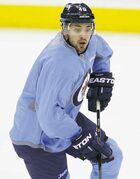 TREVOR HAGAN / WINNIPEG FREE PRESS Devin Setoguchi, practising at the MTS Centre Saturday, has 10 goals on the season after his pair against the Canucks Friday night.