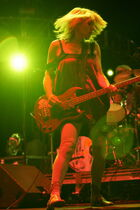 Kim Gordon performs with her band Sonic Youth at the 2007 Coachella Valley Music & Arts Festival.