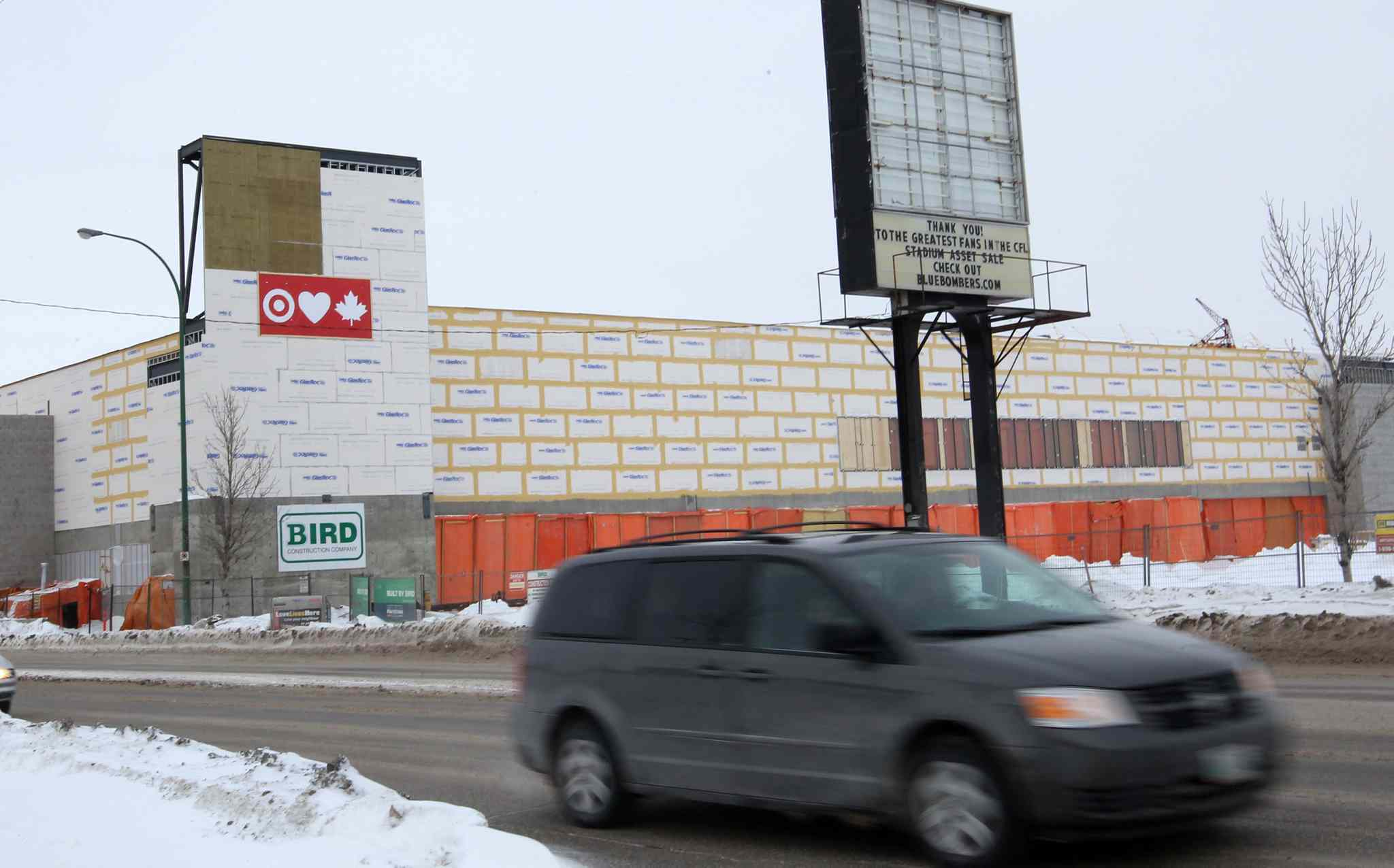The Target store under construction on the old Canad Inns Stadium site near Polo Park is a current example of vertical retail development.