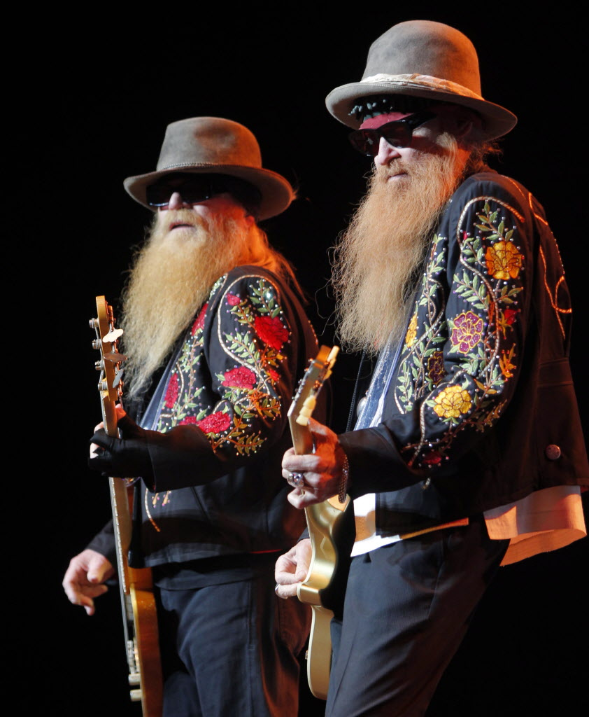 ZZ Top showcasing some stellar threads at MTS Centre Thursday night.