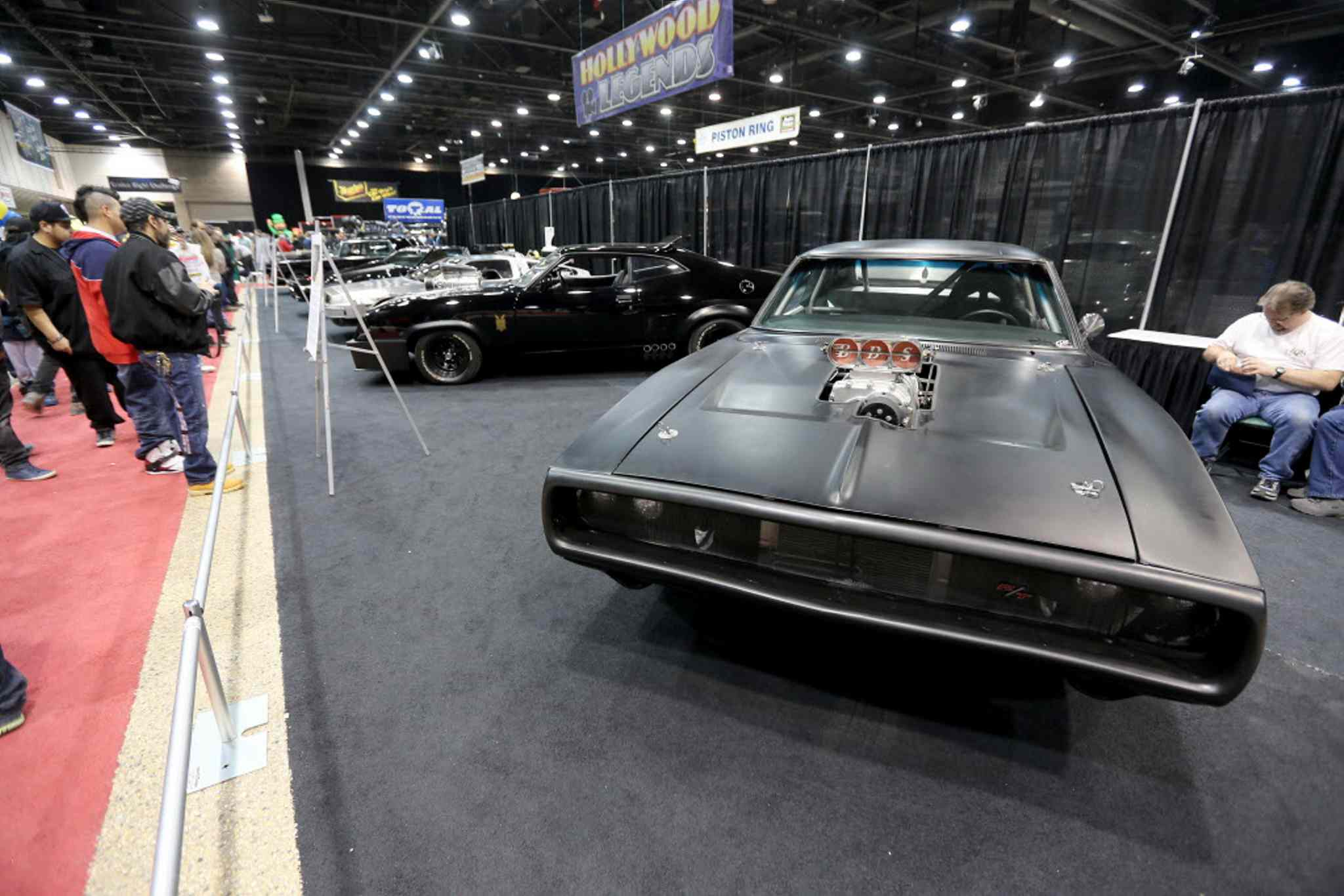 A Dodge Charger from the Fast and The Furious movie series at the World of Wheels Car show at the Convention Centre.