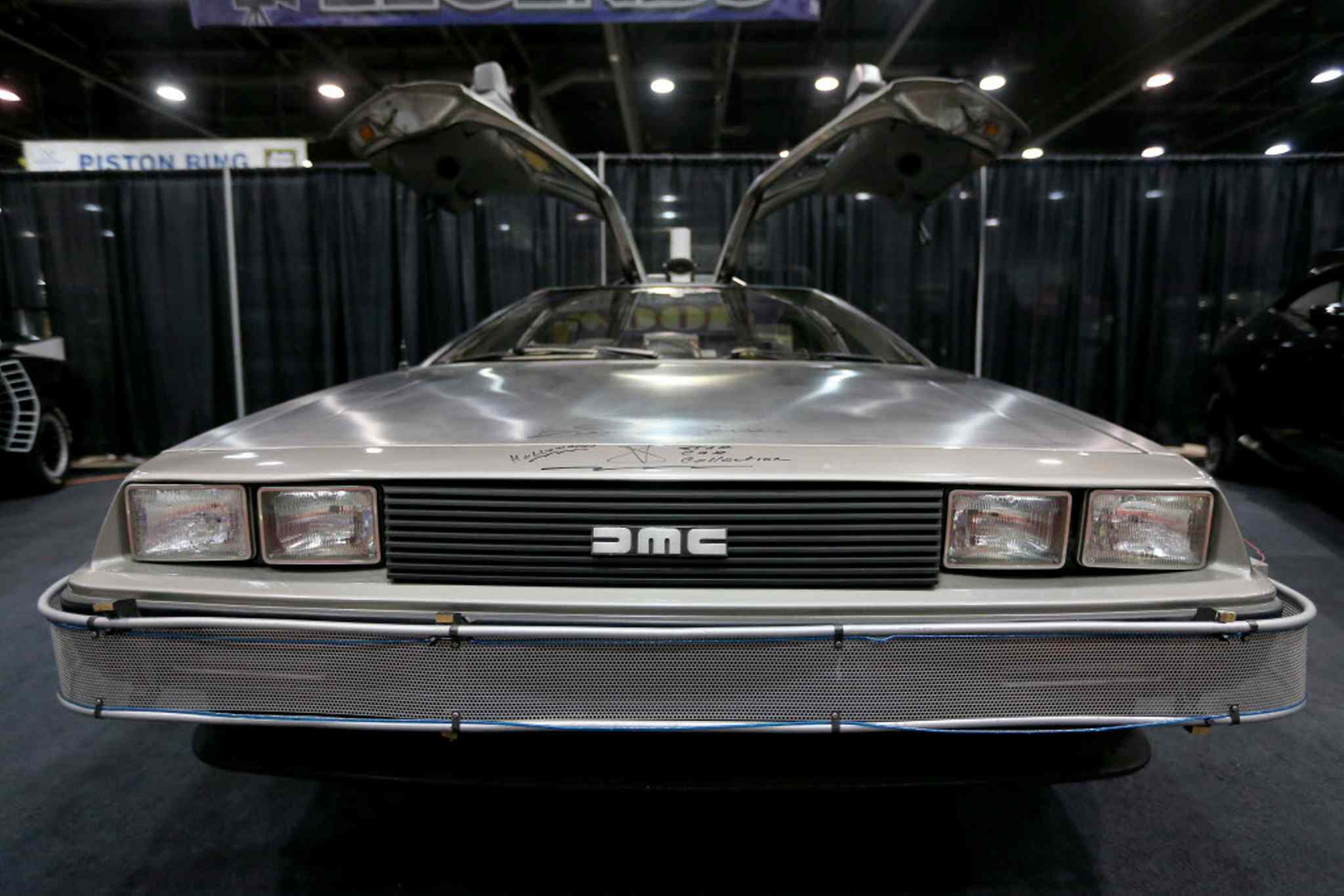 The Delorean from Back to the Future at the World of Wheels Car show at the Convention Centre, Saturday, March 15, 2014.