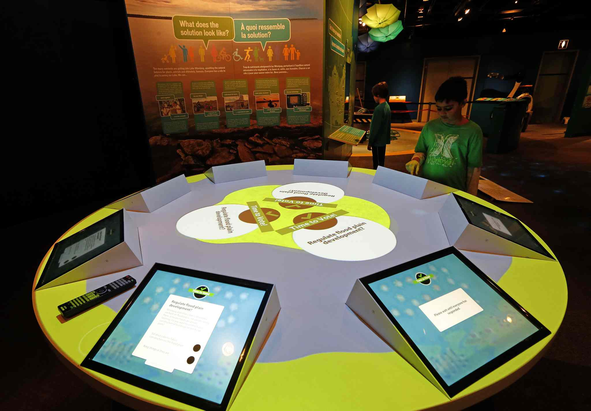 The aim of the exhibit Lake Winnipeg: Shared Solutions is to educate  the public about the threatened body of water.
