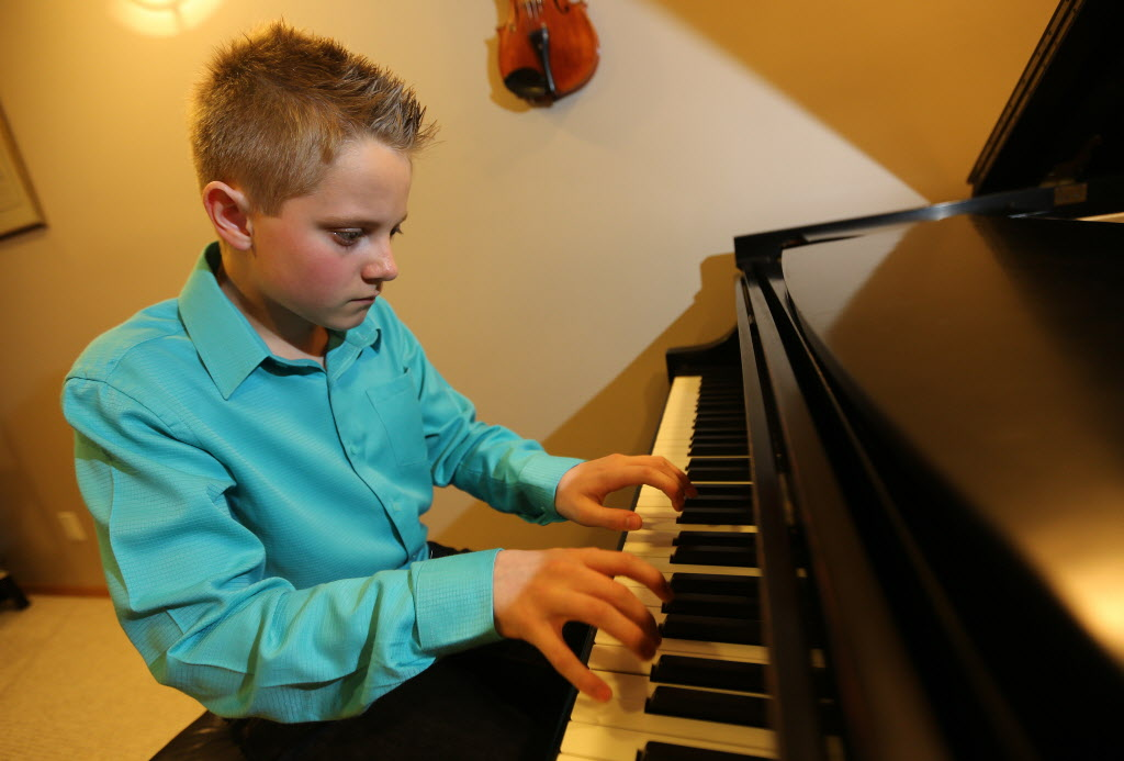 Twelve-year-old pianist, Raymond Guerard, will be performing for Juno artists as they arrive at the airport before this weekend's big event.