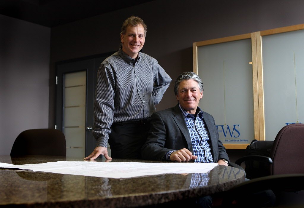 FWS Group of Companies' Troy Valgardson, left, and George Depres are proud of their firm's status as one of Canada's best managed companies in 2013.