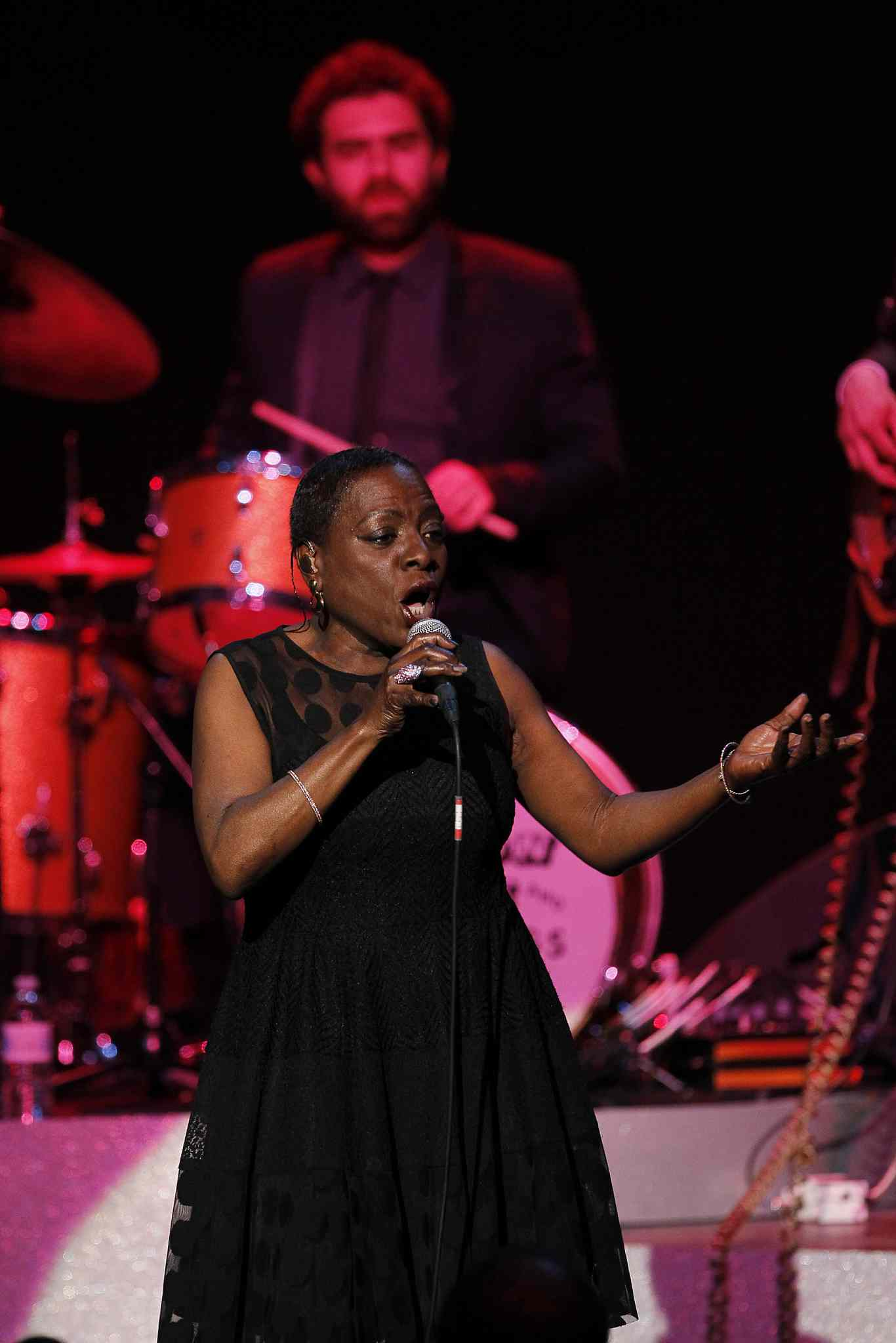 Sharon Jones and The Dap-Kings perform at the Burton Cummings Theatre. Jones, 57, broke into the music business with her band 12 years ago after decades as a backup singer. Before that, she was a corrections officer.