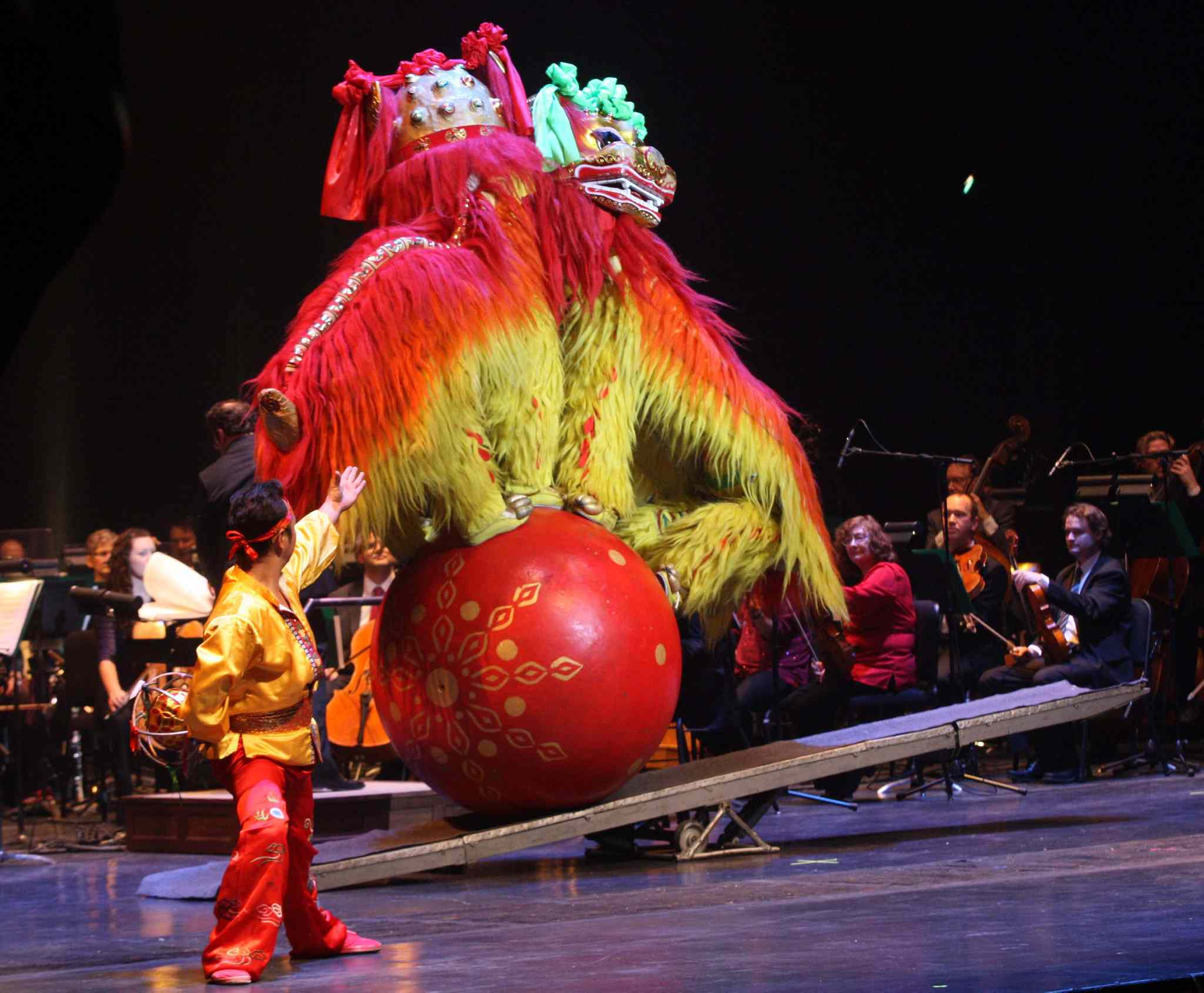 The Lion Dance dazzles Centennial Concert Hall crowd.