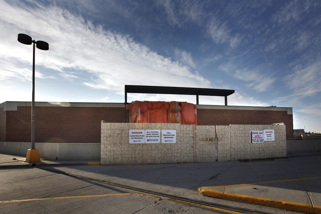 The former Zellers store at Polo Park is being reconfigured to house two dozen shops.