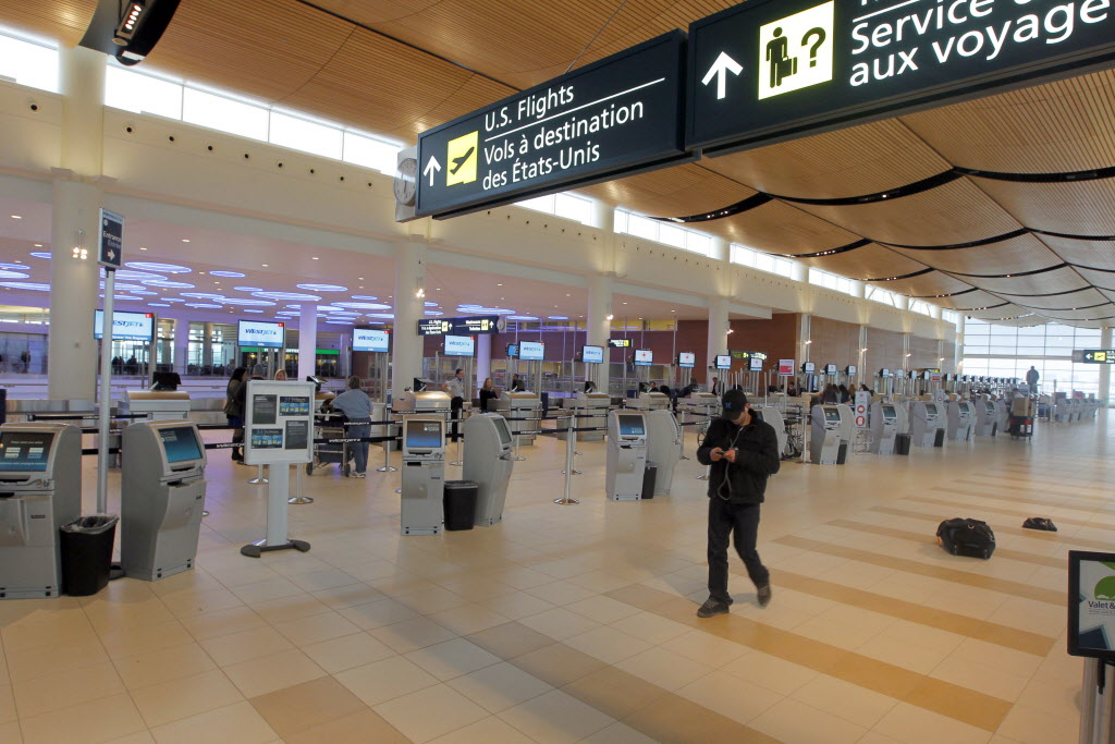 Winnipeg's Richardson International Airport (above) is losing travellers to Hector International Airport in Fargo.