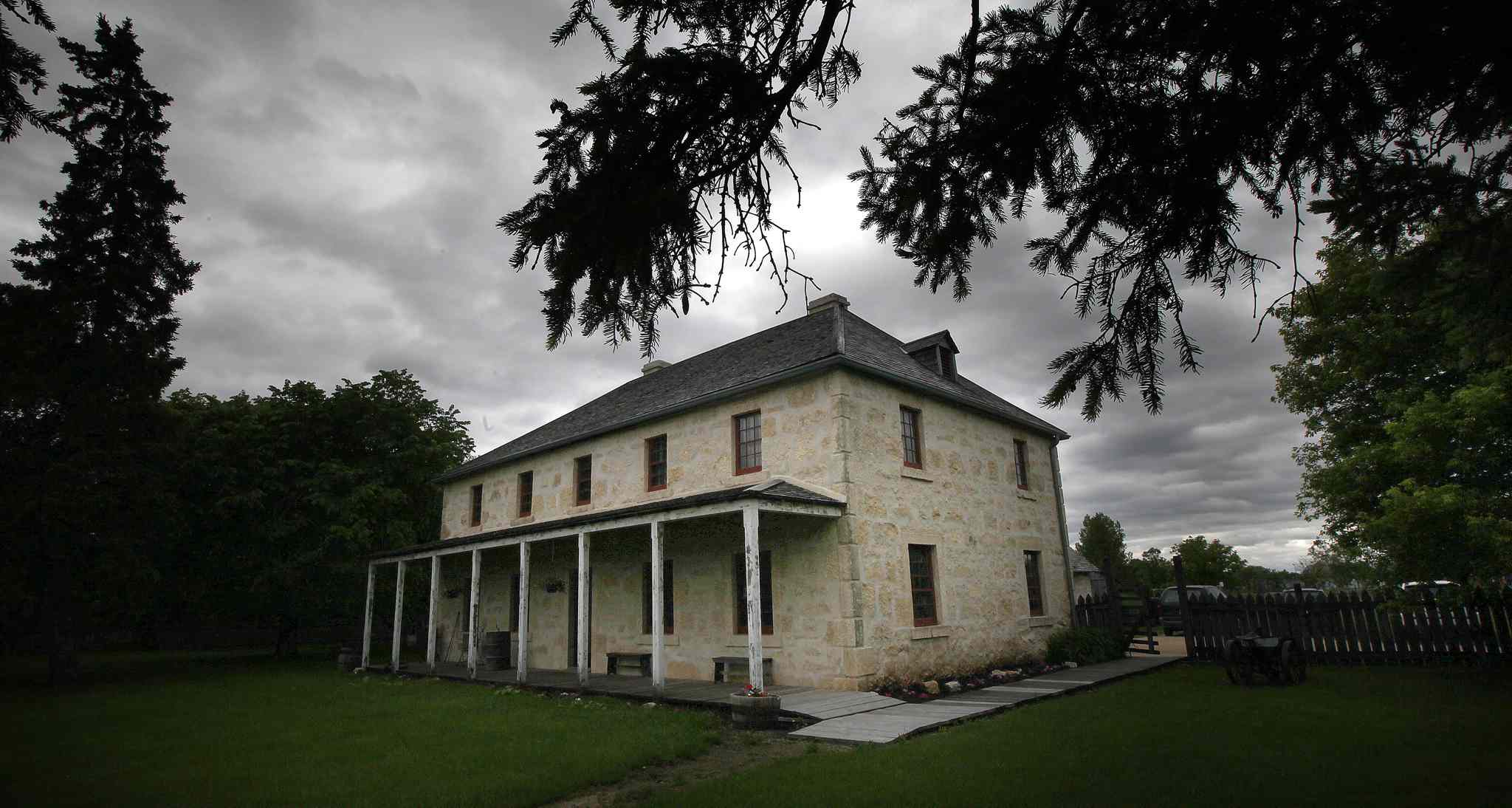 The newly restored historic St. Andrews Rectory on River Road North.