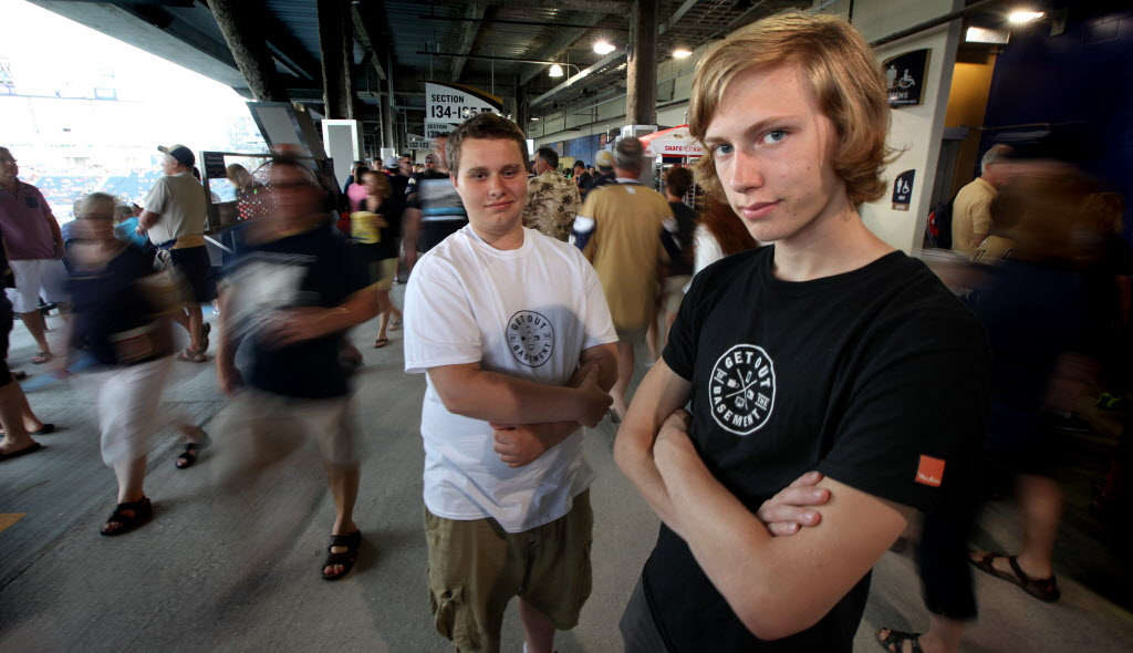 Ben Boxall, right, and Zachery Boyar are encouraging youth to appreciate the city.