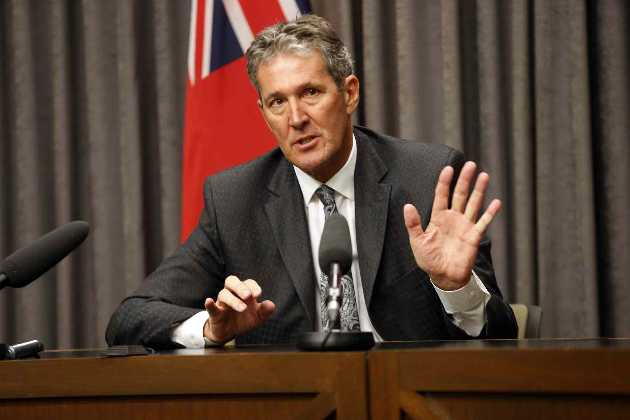 Brian Pallister questioned how much the government is spending now to promote its new budget a year away from a general election