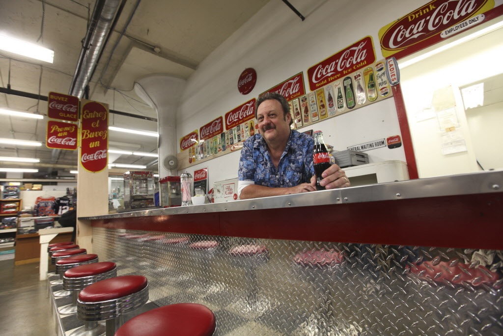 Richard 'Thirsty' Copet runs Thirsty's Flea Market and its retro lunch counter. (Ruth Bonneville / Winnipeg Free Press)