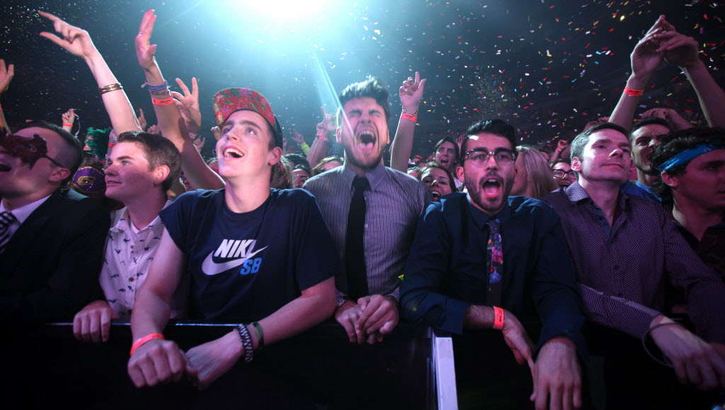 Fans soak up Arcade Fire Thursday night at the MTS Centre. (Phil Hossack / Winnipeg Free Press)