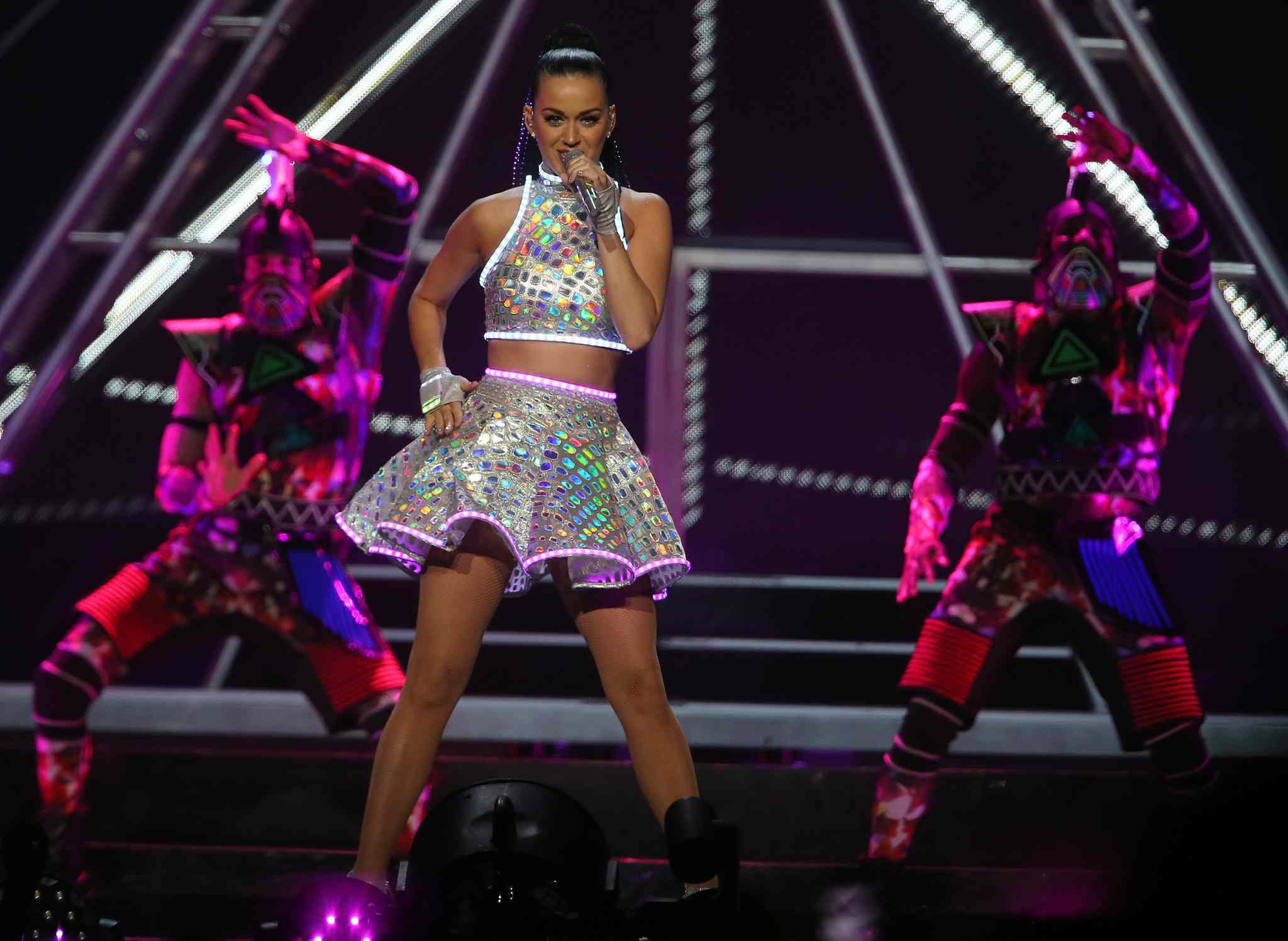 Katy Perry performs at Winnipeg's MTS Centre Tuesday, Aug. 26.