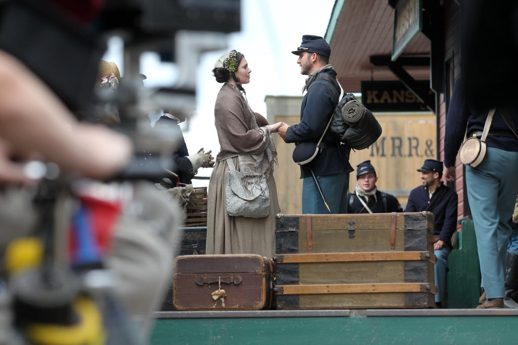 On location of the set for The Pinkertons. (Ruth Bonneville / Winnipeg Free Press)