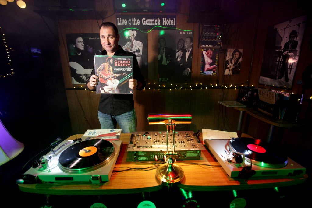 Garrick Hotel owner Gary Birshtein began hosting bring your own vinyl nights in September, and had the crowd rocking to Chuck Berry's greatest hits.