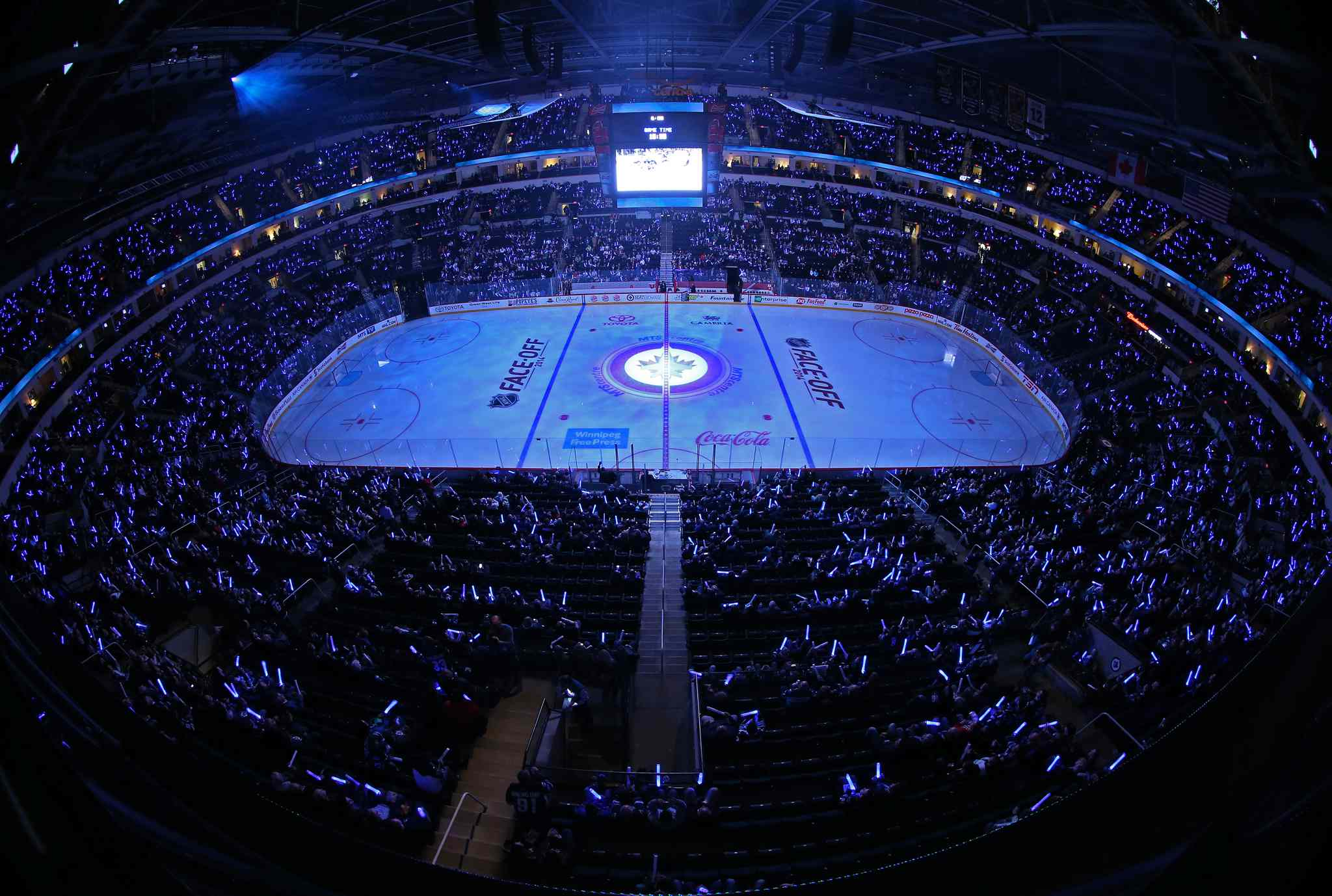 2014 Winnipeg Jets home game at the MTS Centre.