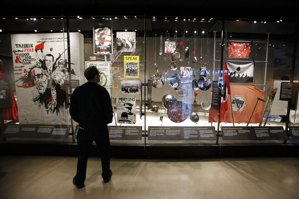Inspiring Change gallery opened at the Canadian Museum For Human Rights Tuesday. (John Woods / Winnipeg Free Press)