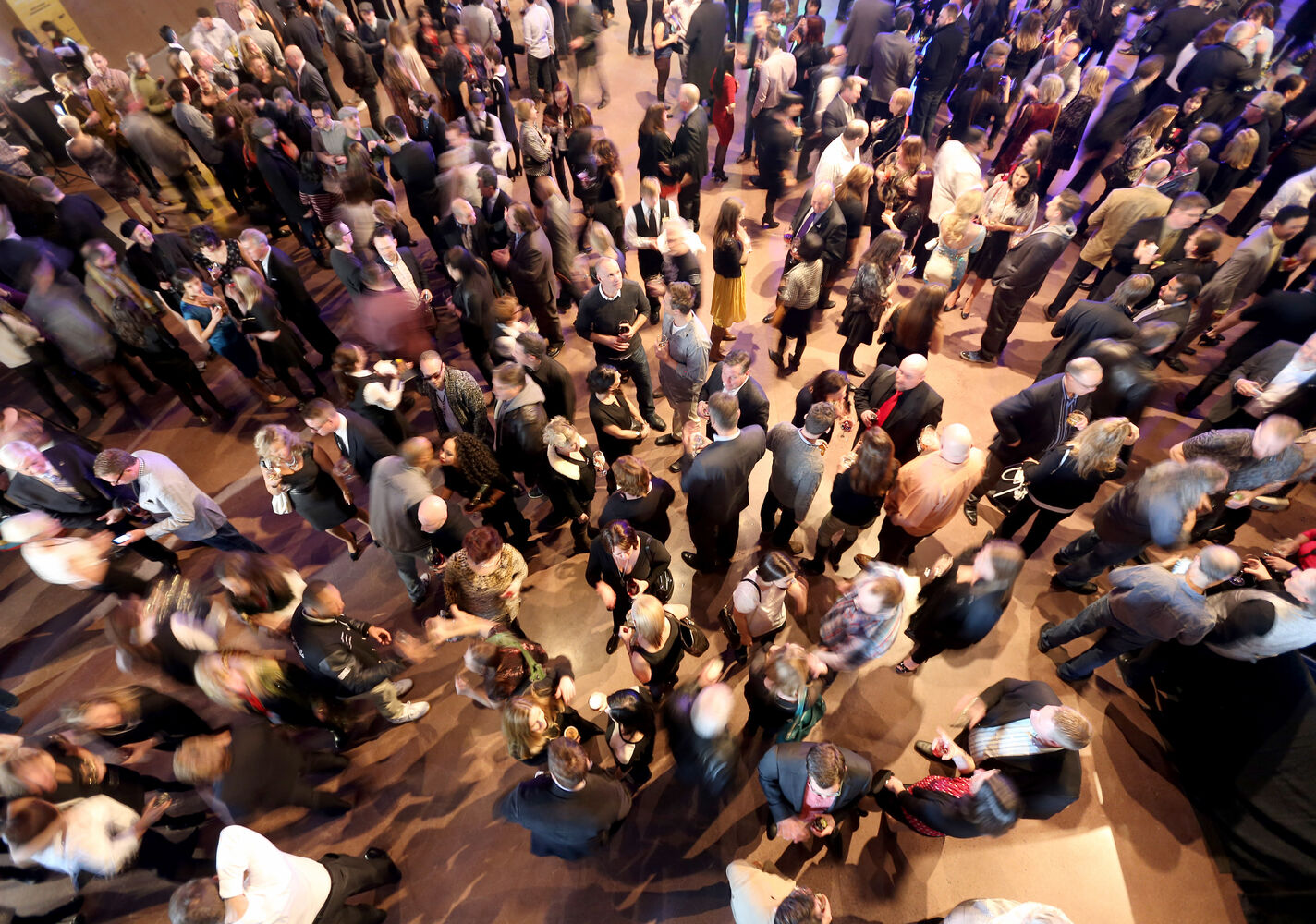 The crowd at the Juno Reception inside the Canadian Museum for Human Rights on Friday. (Trevor Hagan / Winnipeg Free Press)