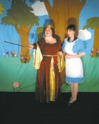 Members of Merlyn Productions perform a  scene from the 2011 run of Through The Looking Glass (And What Alice Found There). The latest production of the play opens Dec. 26 at Forrest Nickerson Theatre.