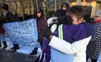Protesters hit downtown streets to protest Lamb plea bargain