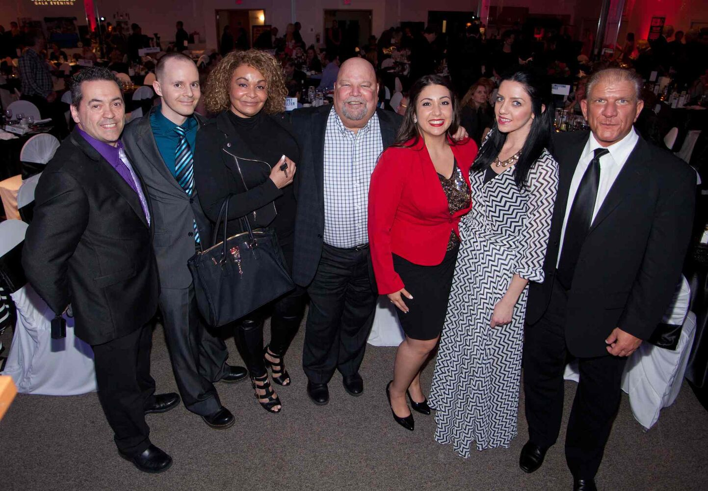 The Winnipeg Pet Rescue Shelter held its annual fundraiser gala dinner at the Gates on Roblin on May 14, 2015. The New York-themed event raised much-needed funds for the no-kill pet shelter. Representing Energy 106 were Frankie Hollywood (from left), Steve Adams, Jordan Knight, Mike Fabian, Nichole Dacey, Stephanie Harris and Todd Denysuik.